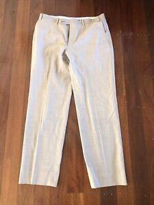 Canali Bone Wool Pant Trousers, Size 48