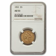 1852 $5 Liberty Gold Half Eagle AU-53 NGC
