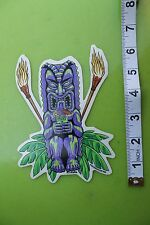 New listing Tiki God Hawaii Tropical Almera Pop Art Surfing Skateboarding Racing Sticker