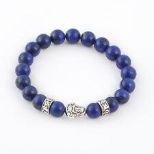 Lapis Lazuli Throat Chakra Bracelet, Buddha Mantra Beads Balancing Healing Reiki