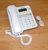 Genuine AT&T (CL2909) Battery Operated White Corded Telephone System **READ**
