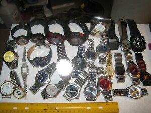 vintage junk drawer lot,watches,men's,women's,Invicta,Seiko,Croton,Armitron,nice