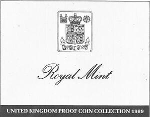 1989 Grande-Bretagne 9 Pièce de Monnaie 3 Page c. O. A.Document Kit