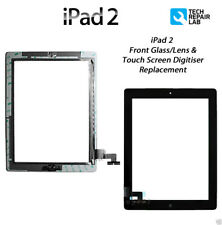 NEW iPad 2 Complete Front Glass/Digitiser Touch Screen/Panel Assembly - BLACK