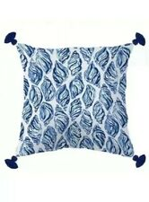 Lilly Pulitzer XL Pillow 24x24 Indoor Outdoor Blue/Gold Drop In Conch Shells