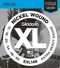 D'Addario EXL148 Guitarra Eléctrica Cuerdas Extra Pesado 12-60