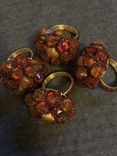 Pier One Import Moroccan Beaded Wire Napkin Rings Set of 4