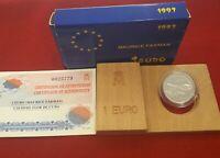 1 EURO PLATA 1997 - MAURICE FARMAN - CALIDAD FLOR DE CUÑO - FNMT