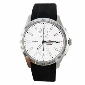 Orient Orologio Cronografo Uomo Acciaio e Caucciù