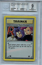 Here Comes Team Rocket Trainer #15 1st Edition BGS 9.0 Mint Holo Pokemon Card