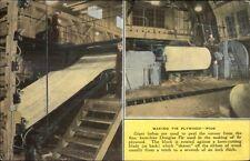 Fir Plywood Mfg Douglas Fir Lumber Industry Linen Adv Postcard