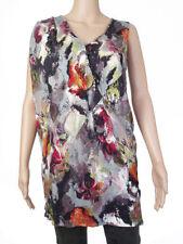 Hip Length Viscose V Neck Floral T-Shirts for Women