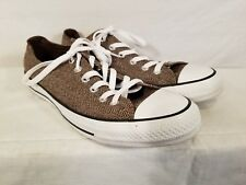 d84afb6cea58f0 Converse All Star Chuck Taylor Canvas Shoes Low Brown Chevron Men 8 Womens  10