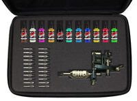 DURAGADGET Customisable Black Hard Carry Case for Tattoo Equipment