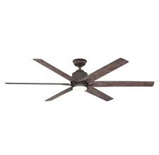"""64"""" Large Ceiling Fan + Remote Rustic Wooden Loft Industrial Bronze Cabin Light"""
