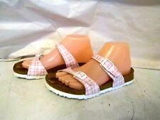 GREAT Women's Birkenstock Birkis pink checkered slide sandals EU 37 6/6.5 N