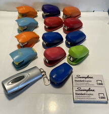 14  Swingline TOT Mini Staplers Many Colors with Staples