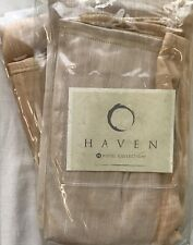 HOTEL COLLECTION HAVEN DESERT 2 STANDARD SHAMS GOLD TAN NIOP MSRP $95 EACH