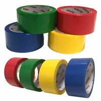 Coloured Packing Tape Rolls - Packaging Parcel Adhesive Sticky Tape