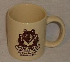 "Wolf Creek Resort Mug Cup Big Bear Lake CA Advertising 3.5"""
