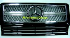 G63 LOOK BLACK (#197) FRONT GRILLE SET FOR 1990-2013 MERCEDES BENZ W463 G-CLASS