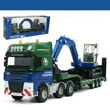 1/50 Scale kaidiwei KDW Low Loader with Excavator Truck Metal Diecast LL