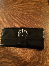 Kelly&Kate Wallet Black Patent Leather. Separate Mini Card Holder. I.D. Window.