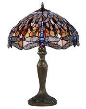 Tischlampe Schreibtischlampe Lampe Libelle Tiffany-Stil Leuchte Antik-Stil (e)