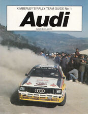 AUDI KIMERLEY'S RALLY TEAM GUIDE No. 1, BUHLMANN, NEW 1984 BOOK ON SALE $49.89