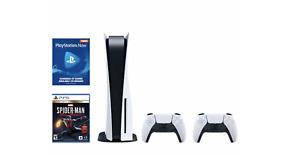 PS5 Disc Version Costco Bundle - Console, Extra Controller, Spiderman, PSNow