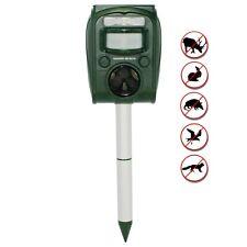 Garden Secrets Mini Solar Ultrasonic Animal Repellent, Skunk Deer Rodent etc.