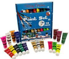 18 Piece Christmas Paint Set Children's Paint Set  Kids Paints 36ml tubes XMAS