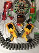 Large 7 Piece Nerf Set ,small Gun 4 Guns, Dart Tag Board , Bullet Holder