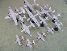 US Navy WW II Aircraft Collection (15) Built and Painted Models, 1/144 Scale