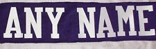 """3"""" WHITE Twill Letters - ANY NAME for a Nameplate on a Football or Hockey Jersey"""