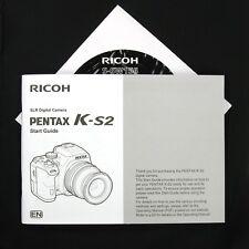 Pentax K-S2 Digital Camera Start Guide / Instruction Manual & CD-ROM #QM5 NEW
