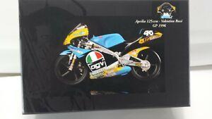 Valentino Rossi. Aprilia 125cc. GP 1996.  Minichamps 1/12