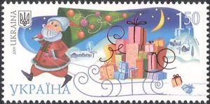 Ukraine 2009 Christmas Greetings/Santa Claus/Sleigh/Presents/Tree 1v (n44816)