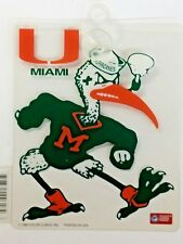 NCAA Miami Hurricanes Suction Cup Window Sign, NEW