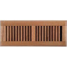 Light Oak Wood Ducted Heating Floor Vent Register 100x300mm - AOFROLL412