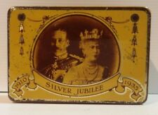 Biscuit Tea Sweets Cigar Tin 1910 Silver Jubilee 1935 Windsor Castle E.I & Co