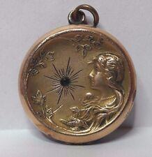 antique  art nouveau Gold filled locket - pendant- KJ