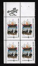 SC #1420 1970 6c Cent US 1620 The Landing Of The Pilgrims Zip Block 4 Stamps