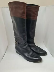 Russell & Bromley Ladies Brown and Black Leather Boots Size 7 (UK)