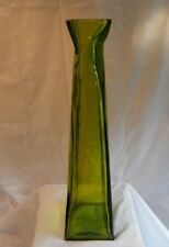 Green Modern Square Glass Vase 21 Inches