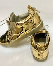 Vegas Giuseppe Zanotti Mens Low Top Sneakers Mirrored Gold Patent 11 US size