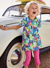 Mini Boden Girls Colourful Pocket Summer Tunic Dress Tropical Jungle 2-6 Years
