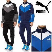 PUMA No 1 CB Core Basics Men's Retro Tracksuit Set Full Zip Jacket & Trousers