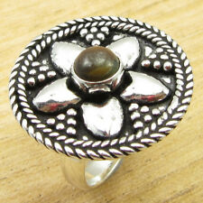 Collectible Tiger's Eye TRIBAL Ring Size 6.25 ! Silver Plated Metal Jewelry NEW