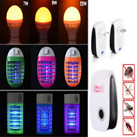 1PC LED Socket Electric Mosquito Fly Bug Insect Trap Night Lamp Killer Zapper JT